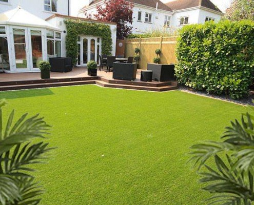Landscaping and decking carrick landscapes for Garden decking and grass
